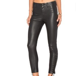 Blank NYC Lace Up Skinny Vegan Pants